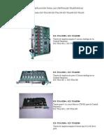 Tarjeta de Ampliacion Para Las Centrales Telefonicas