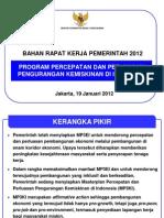 Rapat Kerja Pemerintah 19 Januari 2012 - Pengurangan Kemiskinan (MP3KI)