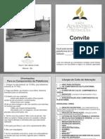 Folheto de Convite à Plataforma