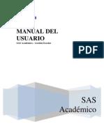 SAS Académico - Gestión Escolar - Manual del Usuario