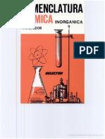 Nomenclatura química inorgánica Escrito por F. A. Baldor-F. J. Baldor