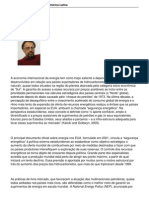 A geopolítica da energia na América Latina