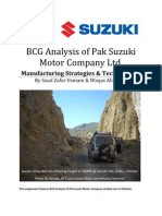 BCG Analysis of Pak Suzuki Motor Company Limited by Waqas Ali Tunio