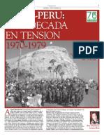 Periódico La Segunda, 03.Ago.2007. Suplemento Serie Histórica Chile-Perú. Una década en tensión 1970-1979
