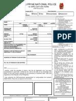 PNP ID Application Form