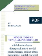 Model Indeks Tunggal Por to Folio