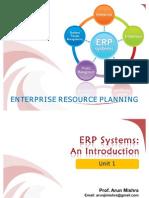 Lecture 123 ERP Unit1 EX AR