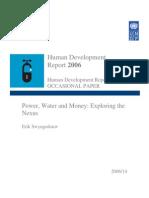 Power, Water and Money Exploring the Nexus