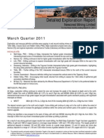 Newcrest Mining Ltd - Exploration Report - March Quarter 2011 - Mt Kasi Gold Project