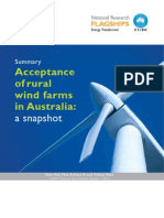 Summary_ Acceptance of Rural Wind Farms in Australia a Snapshot_CSIRO2012