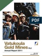 Vatukoula Gold Mines - Annual Report 2011