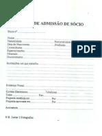 Ficha de inscrição - sócio da  Acsel