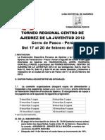 Bases Regional Juvenil Centro 2012