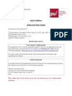 Application Form 2012