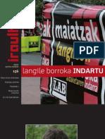 156 iraultzen (aldizkari sindikala, revista sindical, journal syndical)