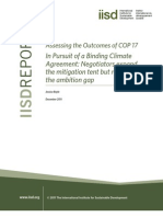 Assessing the Outcomes Cop17