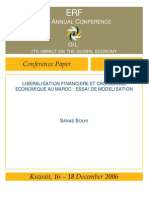 libéralisation financière modélisation