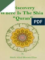 Discovery Where is the Shia Quran by Mufti Afzal Husain Elias