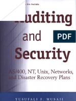 Auditing and Security - As400, Disaster Recovery Plans