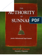 The Authorty of Sunnah by Shaykh Mufti Taqi Usmani