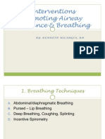 Interventions Promoting Airway Clearance & Breathing