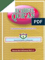 Maariful Quran -English- Mufti Muhammad Shafi (r.a) Vol 1