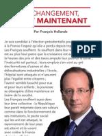 Lettre aux Français de François Hollande