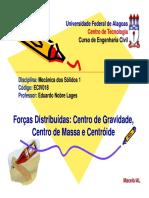 7 - Forcas Distribuidas - CG, CM e C
