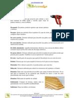 Glosario carpintería D y E