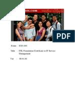 ITIL - Actual Tests_noPW