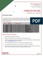 Toshiba New Year Offer - January 2012