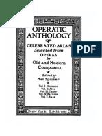 Operatic anthology for Alto (or Mezzo soprano)