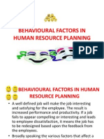 Behavioural Factors in Human Resource Planning (2)