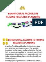 Behavioural Factors in Human Resource Planning (2)