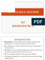 Button Hole Machine
