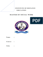 Msw Report