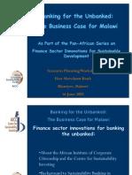 CSI Malawi SdC CEO Briefing Presentation