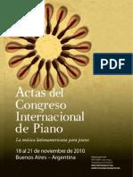 Actas Congreso Internacional de Piano 2010