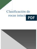 (4.3) Clasificación Rocas intactas