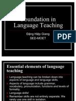 Foundation to Language Teaching