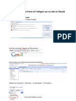 Tutoriel Google formulaire