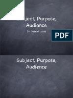 1101 Subject Purpose Audience 866