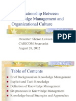 Organisational Culture and Knowledge Management 2