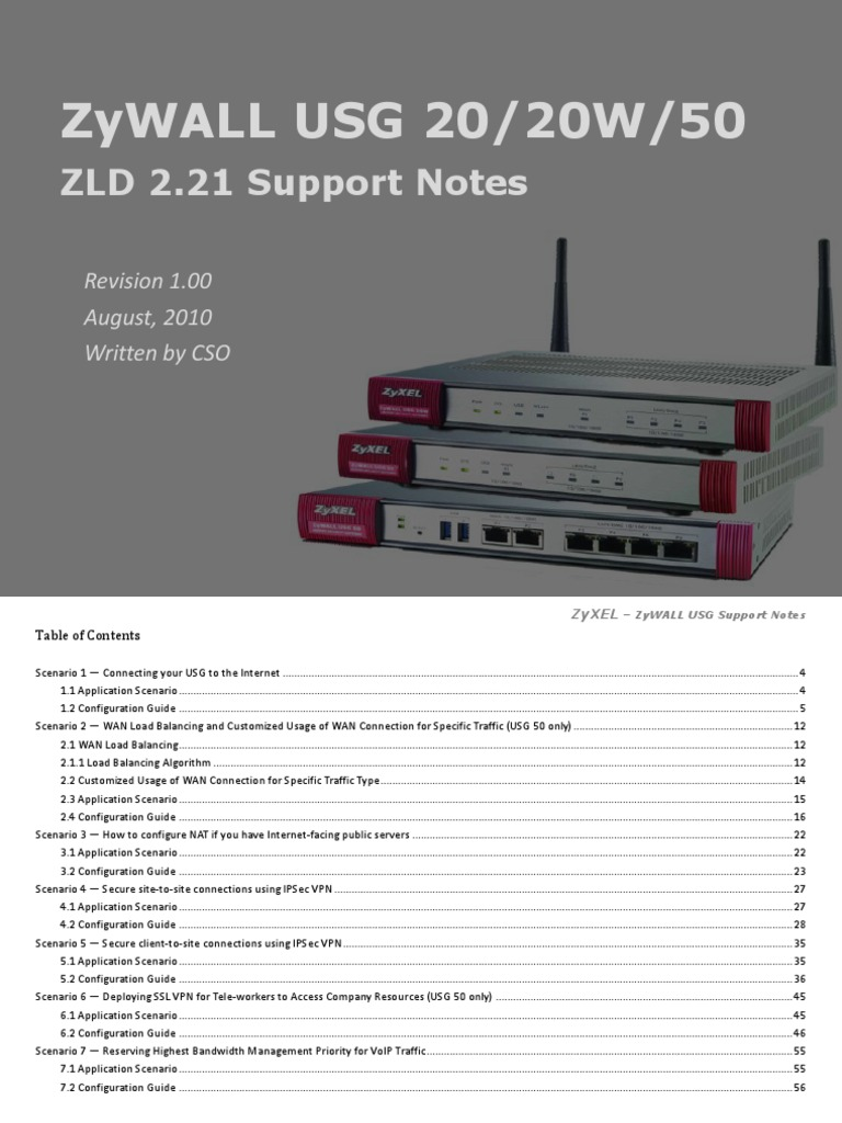 ZyWALL USG 50 2 Zld 2 21 Support Notes | Virtual Private Network