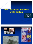8 Sins of News Editing