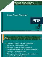 Export Pricing Strategies