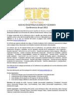 Convocatoria de trabajos AEDE 2012