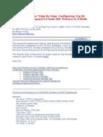 Configuring 11g R2 RAC to RAC Dataguard