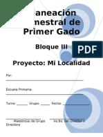 1er Grado - Bloque 3 - Proyecto 3