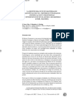 Baeza, E. et al. Reintegración de materiales paleontológicos. 2009